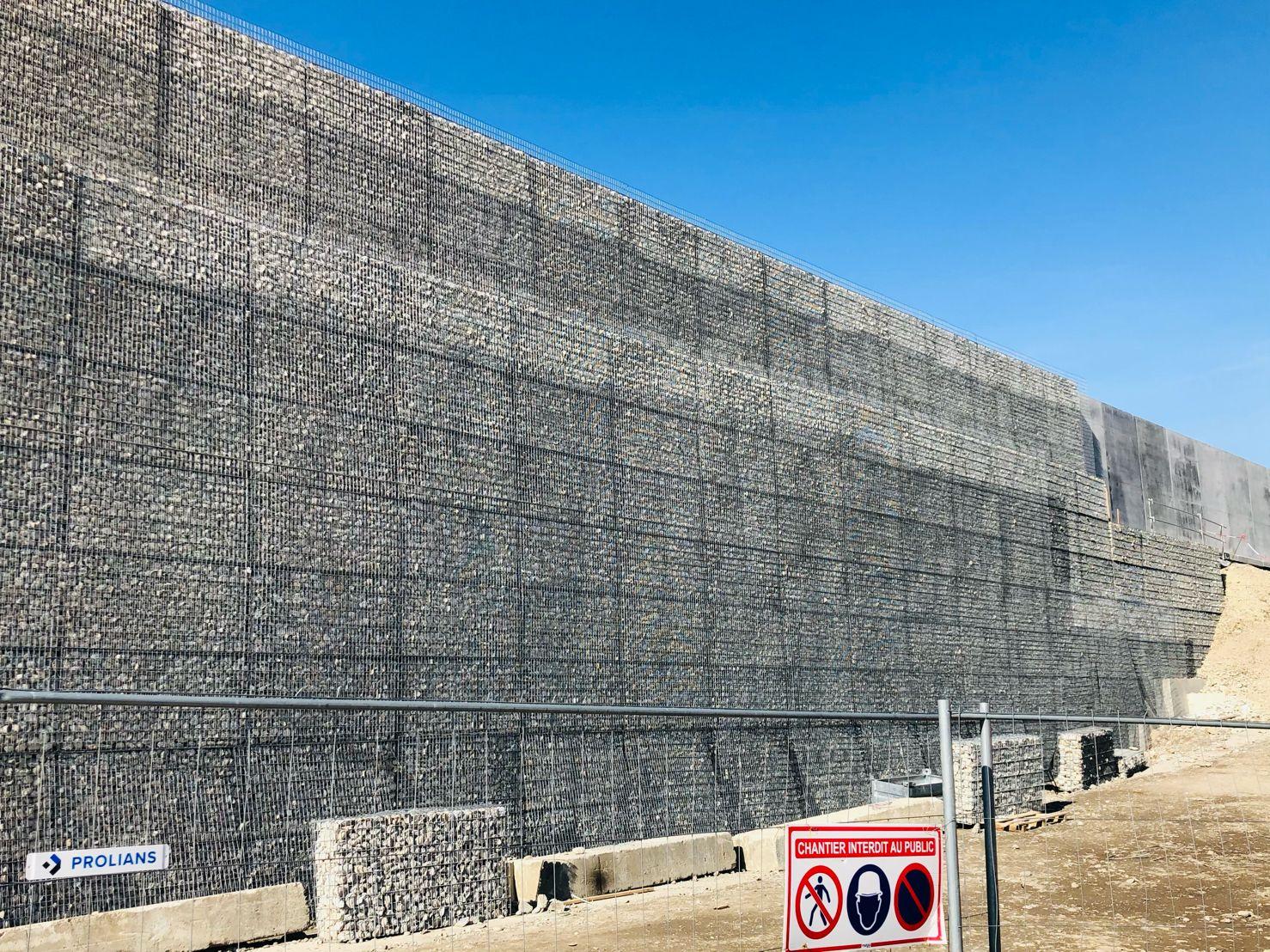 gabion stonebox a480 saint egreve vinci spie claix autoroute anti bruit