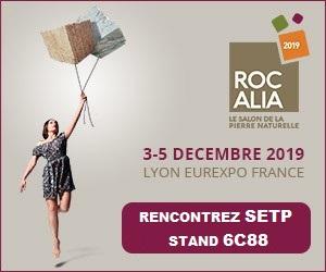 rocalia 2019 setp stand 6c88 salon pierre marbre comblanchien exposition gl events