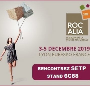 rocalia 2019 setp stand 6c88 salon pierre marbre comblanchien exposition gl events