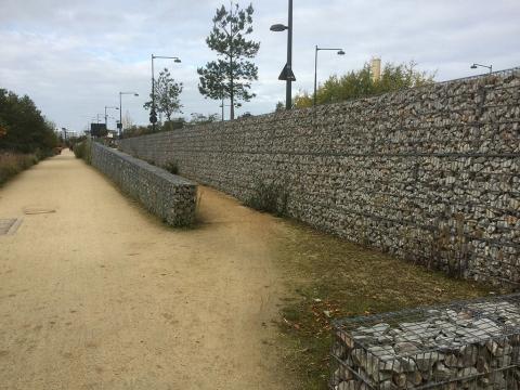 Aménagement de mur en gabions