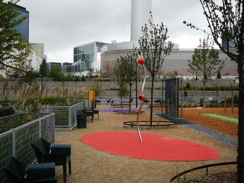 Aménagements urbain La défense utilisation de gabions